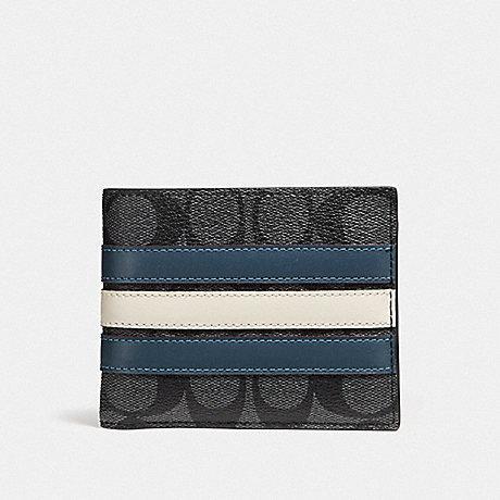 Coach Men Signature Compact Id Wallet F75371 F26072