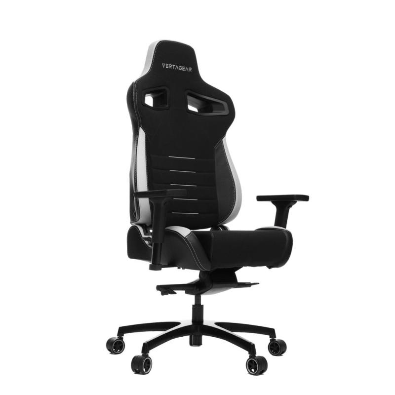 Vertagear Racing Series P-Line PL4500 Coffee Fiber with Silver Embroirdery Gaming Chair (LED/RGB Upgradable)