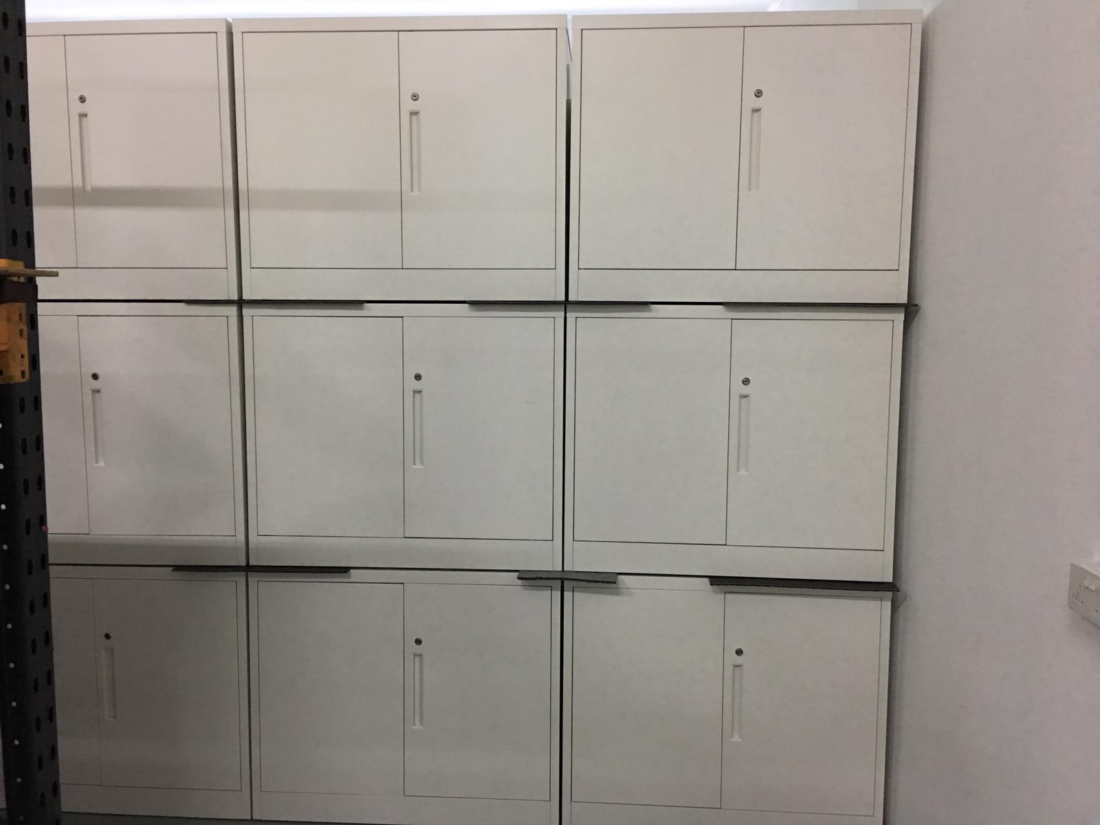 NewStar White Color Metal Key-Lock Office Cabinet