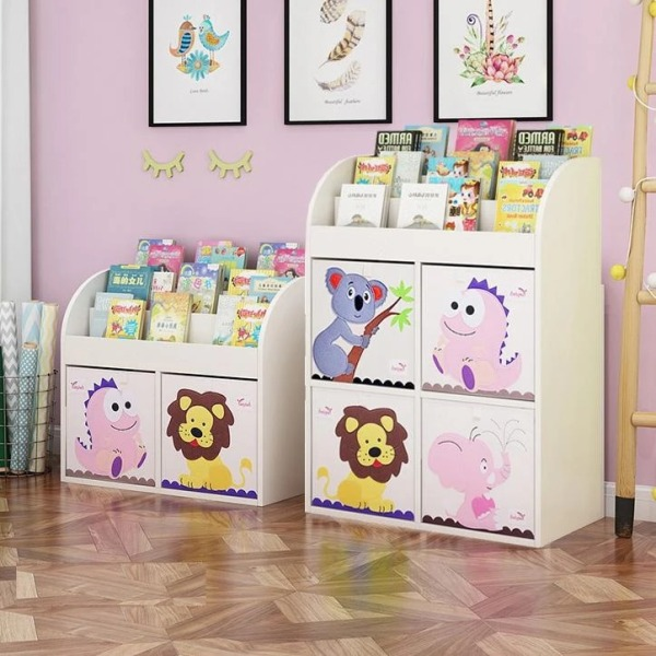 FIJN Magazine Rack w/ Storage Cubes