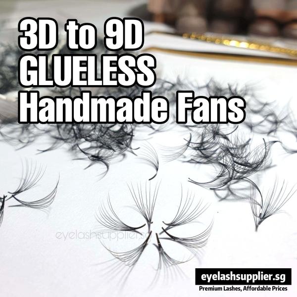 Buy 3D/4D/5D/6D/9D Premade Volume Fan 1000PC | 0.07 Thickness D Curl | Natural Long False Eyelashes | Eyelash Extension Russian Singapore