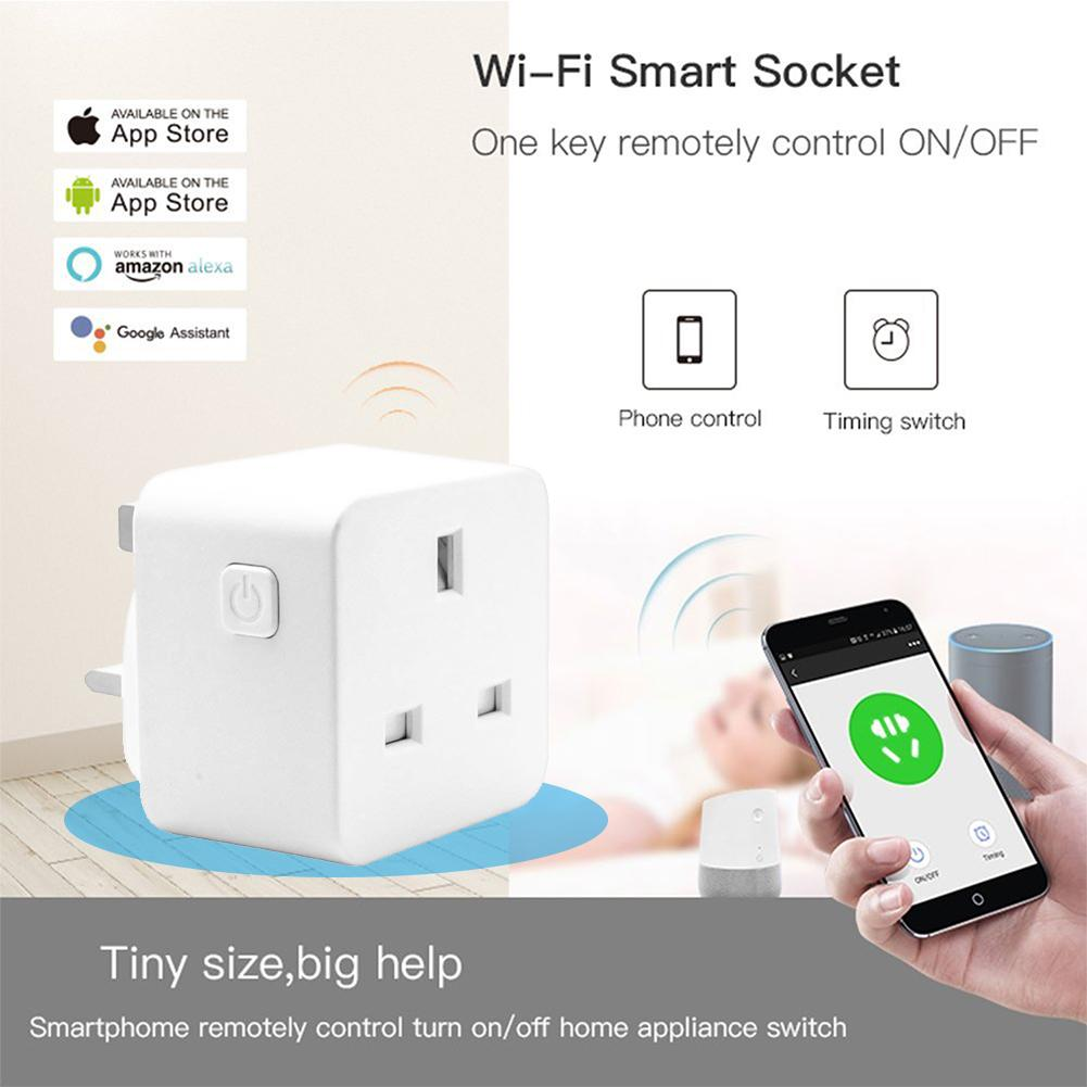 Smart Plug Wifi Smart Socket Power Monitor  UK Voice Remote Control Home Automation Plug Work with Google Home Alexa IFTTT
