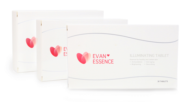 Buy [3 Month Supply] EVANESSENCE Illuminating Tablet -- Anti-oxidant Skin Whitening Pill Post Laser Treatment UV Protect Heal Tomato Extract Licorice Melon Grape Seed Pine Bark L-Glutathione Coenzyme Q10 Hydrolyzed Fish Collagen Singapore