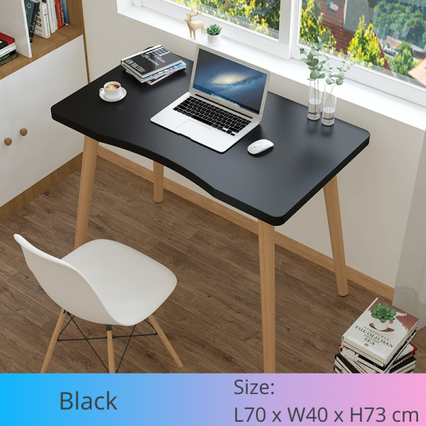 [FREE Delivery] Nordic Style Modern Minimalism Study Desk Computer Desk Laptop Table for Working From Home Student Desk