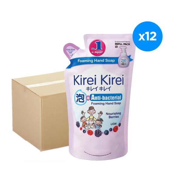Buy Kirei Kirei Anti-Bacterial Foaming Hand Soap Nourishing Berries Refill 200ml x12 Singapore