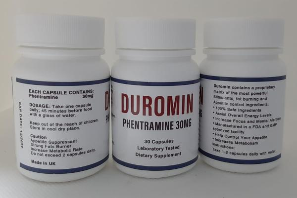 Buy 3 BOTTLE BUNDLE -   USUAL $85/BOTTLE - UK PHENTRAMINE 30MG - DUROMIN - SUPPRESS APPETITE  - BURN FATS - INCREASE FOCUS, ENERGY, STAMINA, WEIGHT MANAGEMENT, METABOLISM, 30 TRANSPARENTS CAPSULES (FREE SMARTPAC W TRACKING NUMBER) Singapore