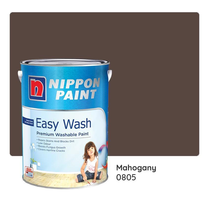 Nippon Paint Easy Wash 0805 (Mahogany) 1L