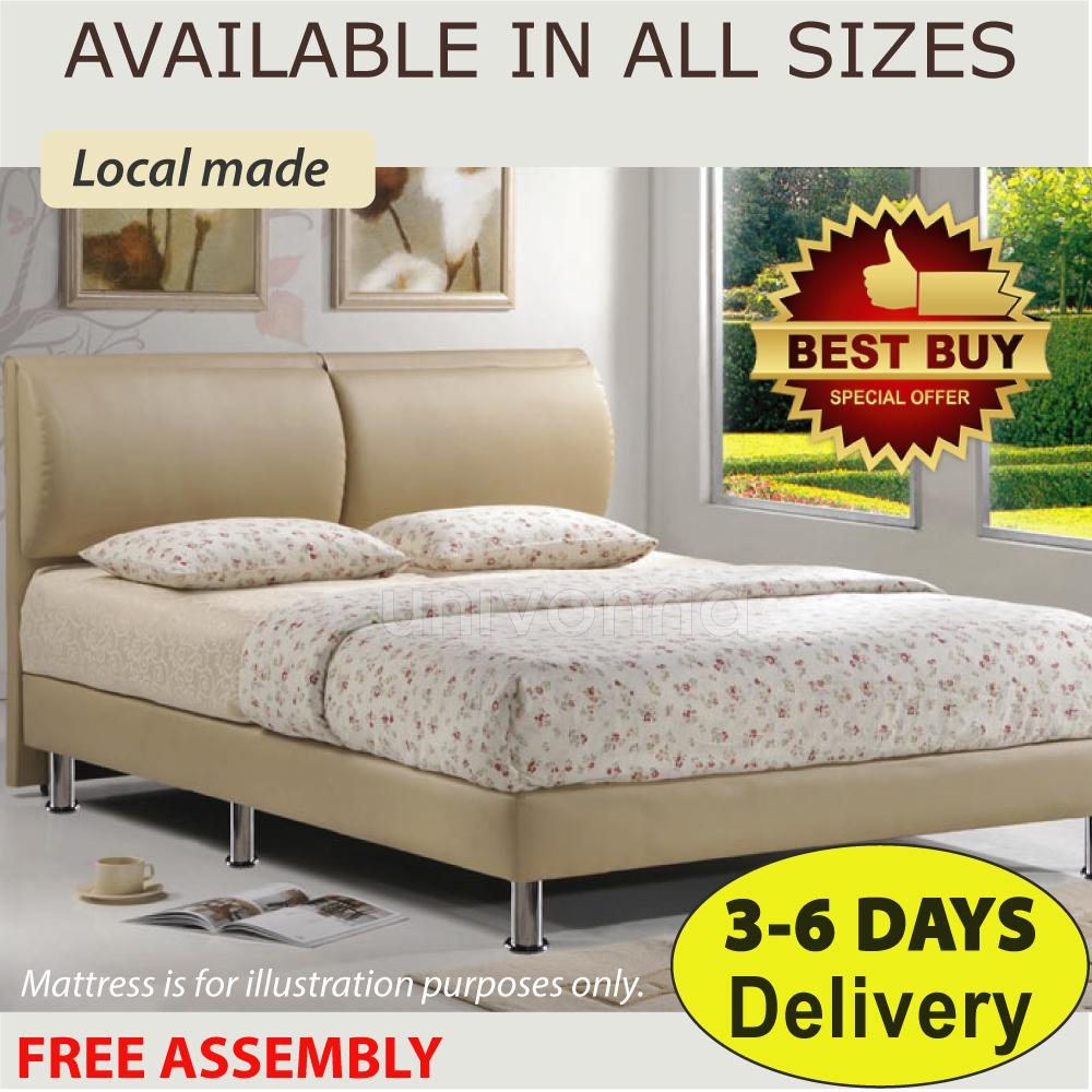 PU Premium Leather Bed Frame