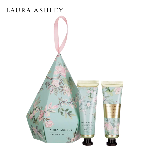 Buy Laura Ashley Garden Bloom Polish and Pamper Hand Duo - Nail and Hand Cream Hand Scrub Moisturizing Beauty Holiday Gift Set Singapore
