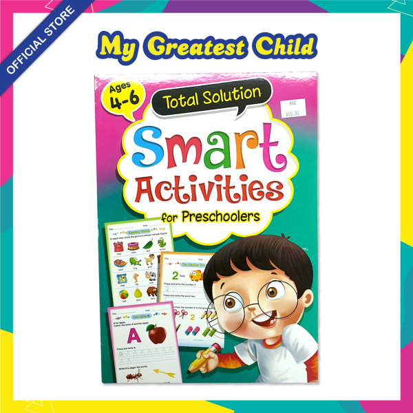SMART ACTIVITIES for PRESCHOOLERS / Total Solution Assessment Exercise book by Mind to Mind [For ages 4-6 years old]