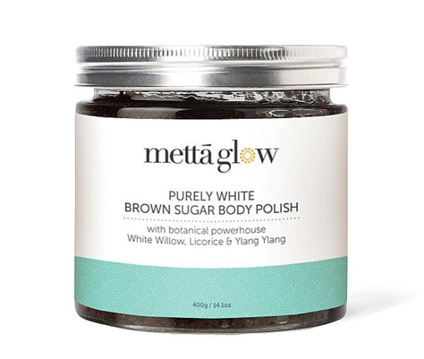 Buy Mettaglow Purely White Brown Sugar Body Polish (400g) Singapore