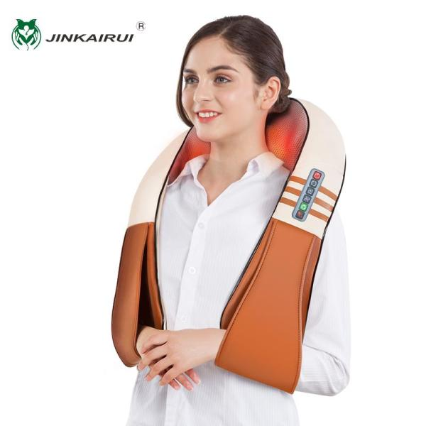 Buy Jinkairui Electric Massager for Neck Shoulder Kneading Shiatsu Massage with Heating Home/Office/Car Singapore