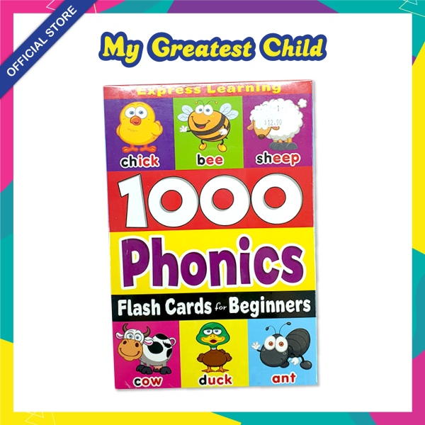 1000 PHONICS FLASH CARD for BEGINNERS / 64 Cards Phonics by Mind to Mind