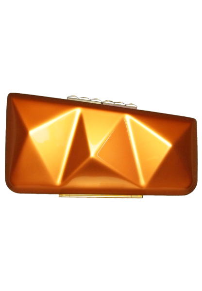 Bags for Women Minaudiere Clutch in Metallic Copper