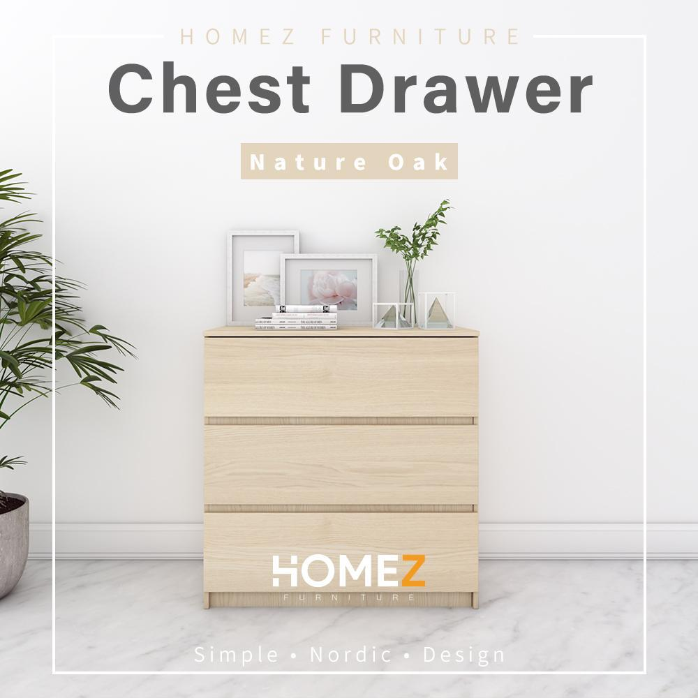 Homez Chest Drawer HMZ-CD-DT-7000 with 3 Layer Drawer Storage - 3 ft
