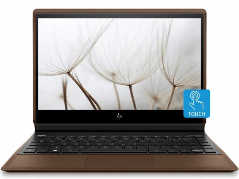 HP 5TH50PA Spectre Folio Convertible Laptop 13-ak0020TU Cognac brown cover, dark ash silver base and keyboard frame (Black)