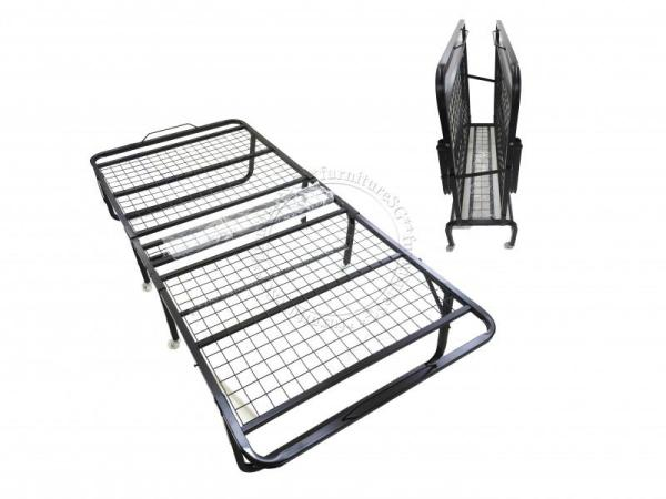 (FurnitureSG) Foldable Metal Bed
