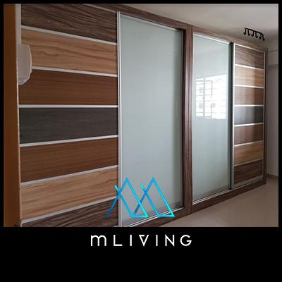 mLIVING Solid Plywood Customizable Modular Sliding Wardrobe  Over 30,000 variations to choose from