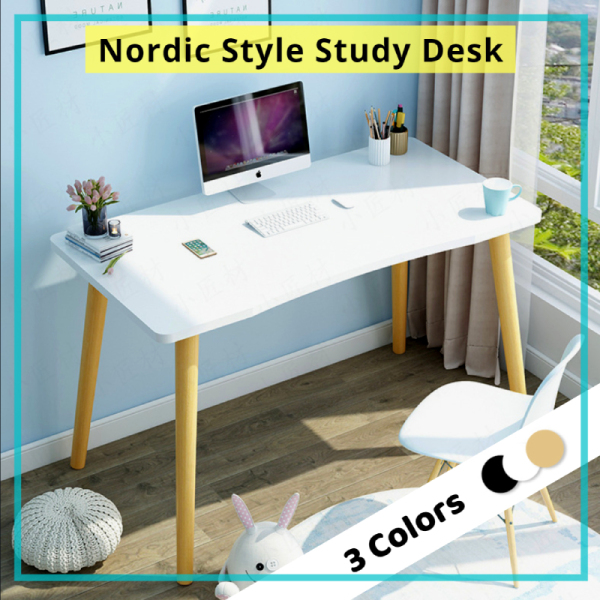 (Pre-order) Nordic Style Modern Minimalism Study Table/Computer Desk/Laptop Table for Work From Home