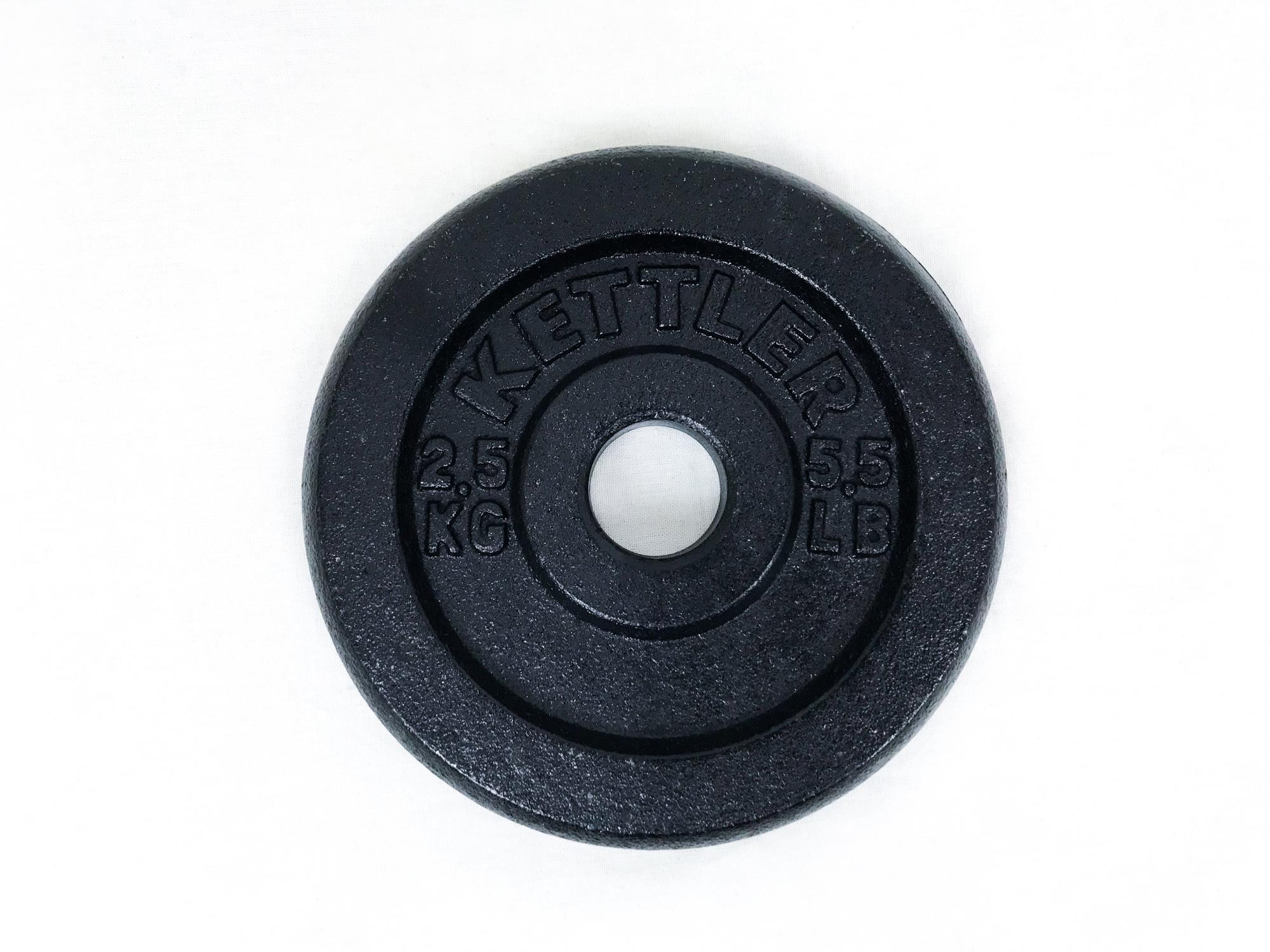 Kettler Kal 803010 Cast Iron Weight Plate (2.5 Kg) By Vito Art Of Fitness (capitaland Merchant).