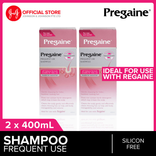 Buy Pregaine (For Thinning Hair) Frequent Use Shampoo 400ml x 2 Singapore