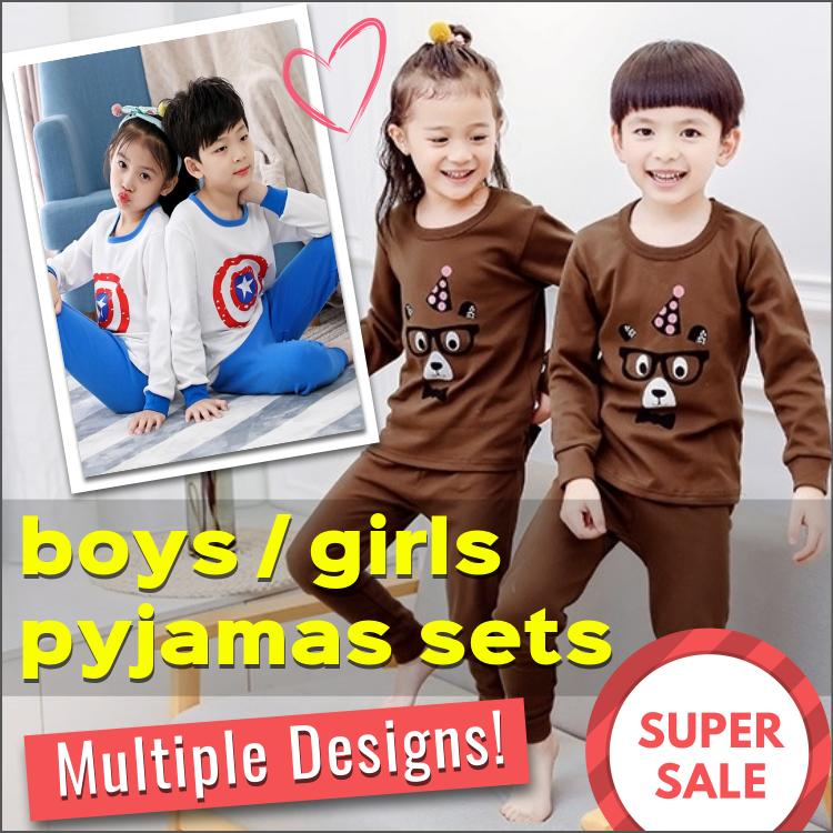 Sg Seller / Kids Pyjamas Set / Children / Boys / Girls / Baby / 100% Cotton / Sleepwear / Nightwear / Pajamas / Fast Shipping / Series Fbp By Bump Bazaar.
