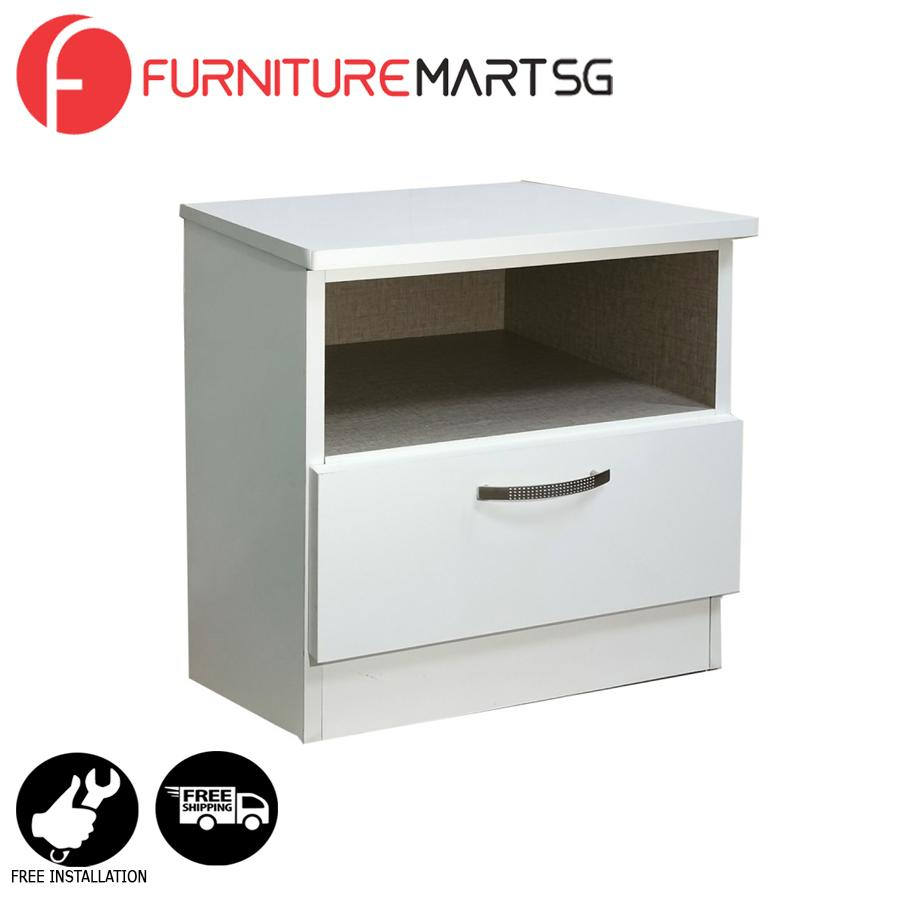 [FurnitureMartSG] Dexon Side Table in White_FREE DELIVERY + FREE INSTALLATION