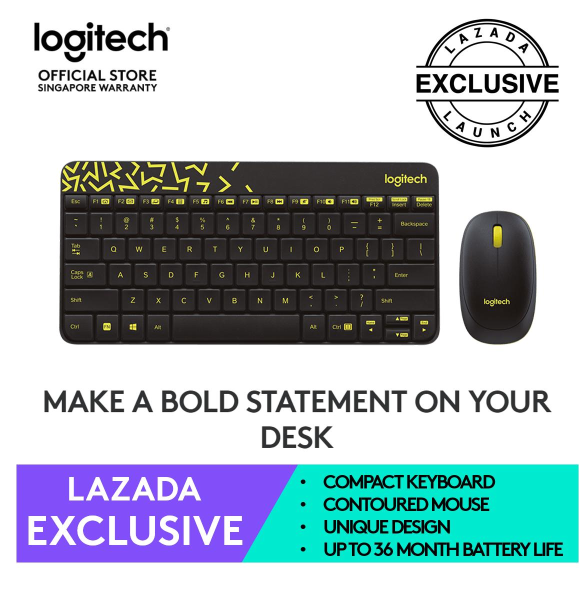 87994086df5 Logitech MK240 Wireless Compact Keyboard and Mouse Combo - Chartreuse  Yellow (Online Exclusive)