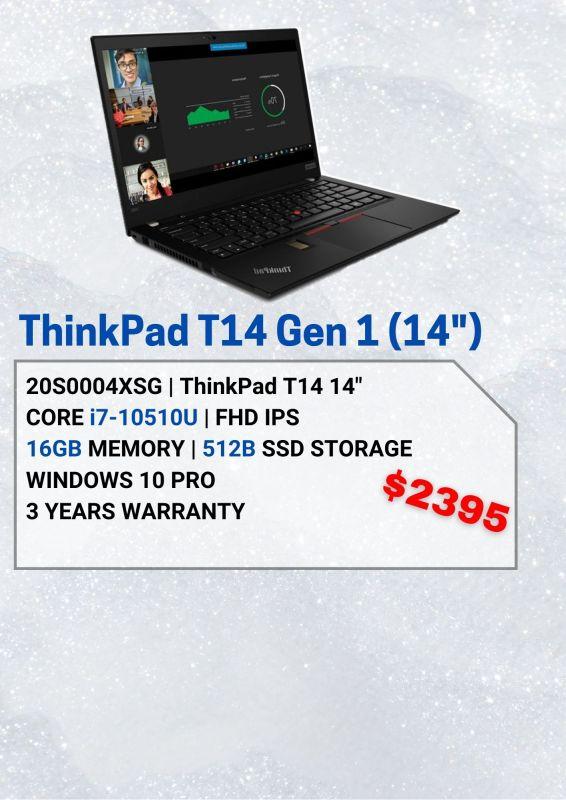 Lenovo ThinkPad T14 Gen 1 - 20S0004XSG