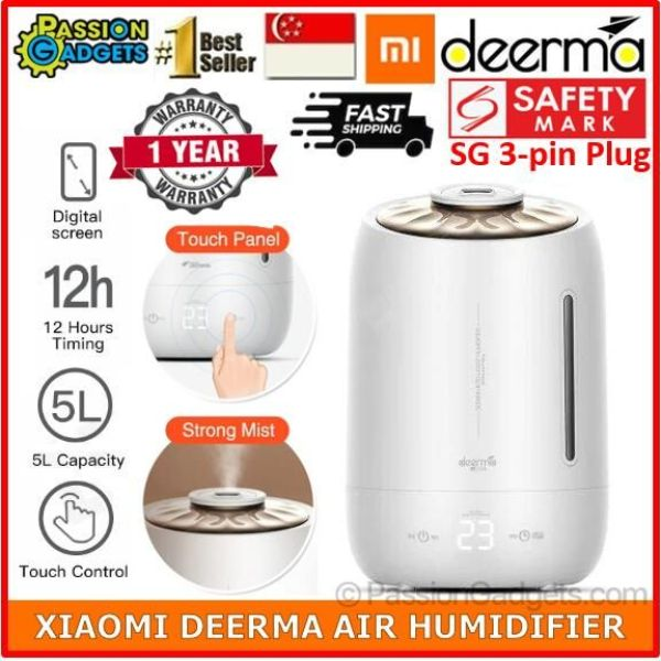 Xiaomi Deerma DEM-F600 Air Humidifier 5L Air Aroma Diffuser Purifier Singapore