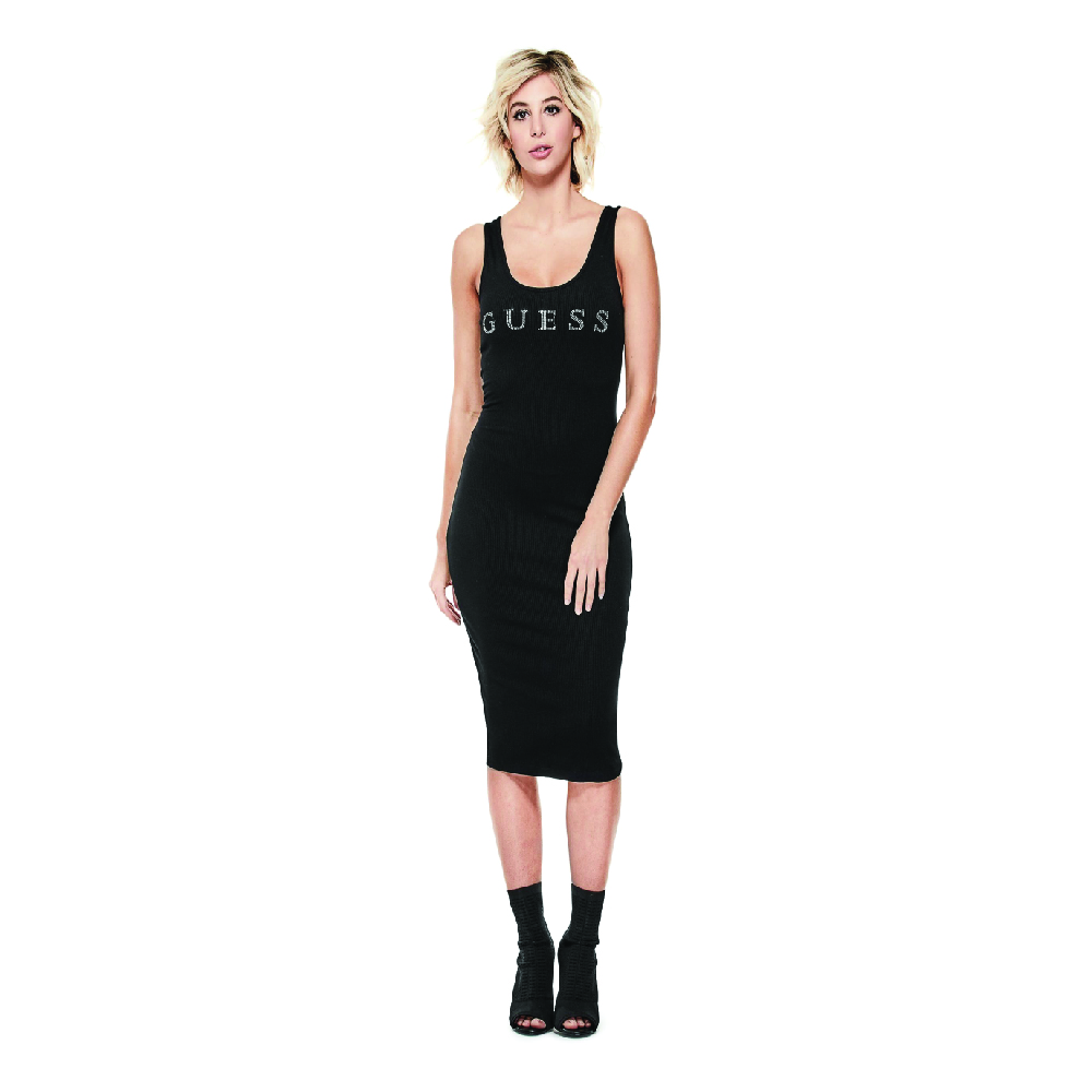 Guess Nivella Logo Midi Dress.