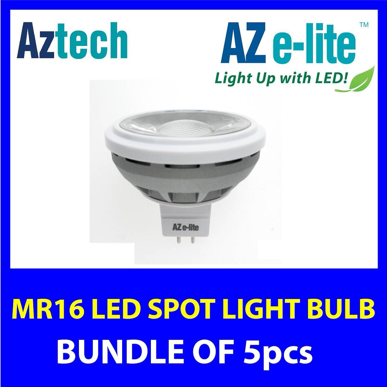 AZ-Elite AZCEND MR16 LED Spot Light Bulb 6 Watt / 7W / 10W【Bundle of 5pcs】