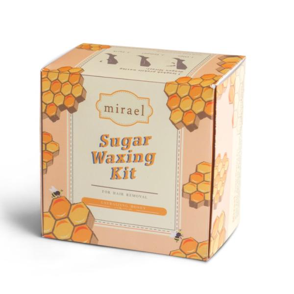 Buy Mirael Sugar Waxing Kit Hair Removal Depilatory Honey 100% Natural Ingredients Singapore