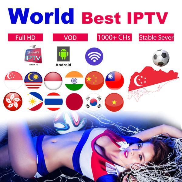Best TV BOX IPTV 1600+ Live 10000+ VOD Movies Sports 4K  Android M3U Smart IPTV Subscription
