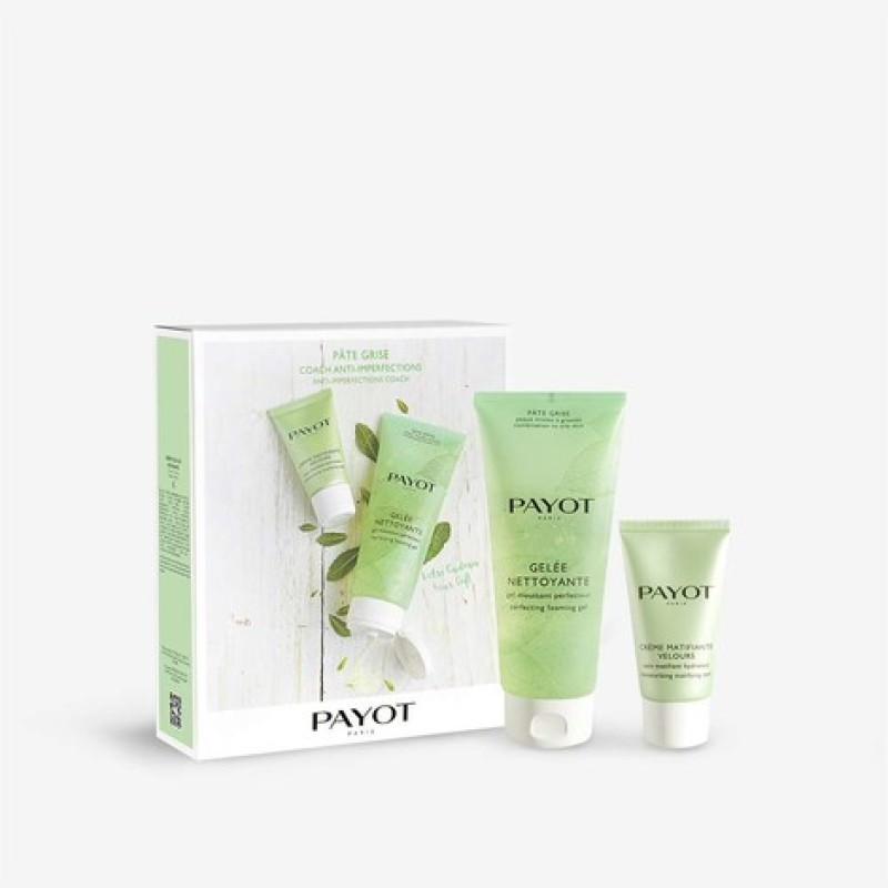Buy PAYOT Pate Grise Anti-imperfections Coach Set (1 x Pate Grise Gelee Nettoyante Cleansing Gel 200ml + 1 x Pate Grise Creme Matifiante Velours Mattifying Cream 50ml) Singapore