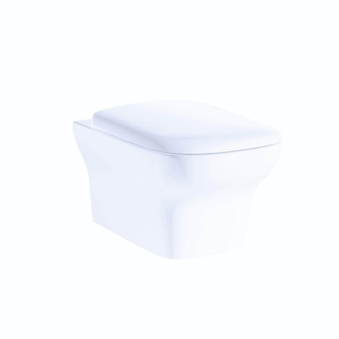 Rubine wall hung toilet bowl