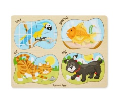 Buy Melissa And Doug 4 In1 Puzzle Pets 16Pcs Cheap Singapore