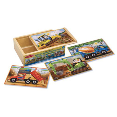 New Melissa And Doug Construction Puzzles In A Box