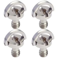 Sale Mengs® 4Pcs 1 4 D Ring Scr*W Ø 12X14Mm For Camera Head Balltripod Monopod Quick Release Plate Oem Branded