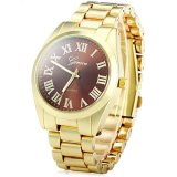 Purchase Men S Alloy Quartz Dress Watch With Roman Numerals Dial Brown Online