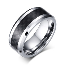 Men S Women S Fashion Jewelry Black Center Pure Tungsten Carbide Classic Personality Ring China
