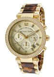 Recent Michael Kors Parker Chronograph Women S Tortoiseshell Stainless Steel Strap Watch Mk5688