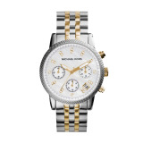 Compare Price Michael Kors Women S Silver Gold Stainless Steel Strap Watch Mk5057 On Singapore