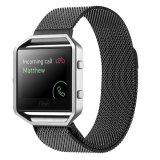 Milanese Magnetic Loop Stainless Steel Wrist Band Strap For Fitbit Blaze Tracker Black Oem Discount