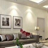Best Offer Modern Lines Flocking Non Woven Embossed Textured Wallpaper Roll Golden