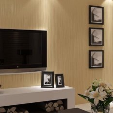 Buy Modern Lines Flocking Non Woven Embossed Textured Wallpaper Roll Light Yellow Not Specified Online