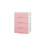 Sale Blmg Modern Plus 4 Tier Drawers Pink Free Delivery Singapore Cheap