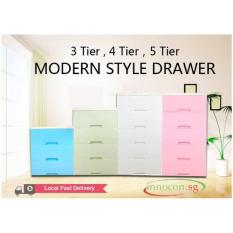 Deals For Modern Style Drawer 5 Tier White