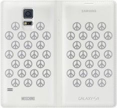 Compare Moschino Flip Wallet Cover For Samsung Galaxy S5 White Prices
