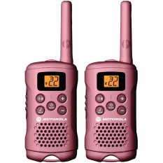 Motorola Mg167a 16-Mile Range 22-Channel Frs/gmrs Pair Of Two-Way Radio (pink) By Bestdeals.